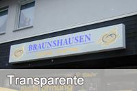 Transparente - Design und Werbung